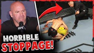 Reactions to the TKO in Jose Aldo vs Petr Yan UFC 251, Dana White says HORRIBLE stoppage, Masvidal