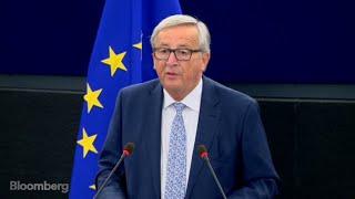 EU\'s Juncker Adopts Fight Mode During Annual Speech