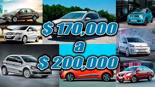 ACTUALIZACIÓN | Autos de 170 a 200 mil pesos a Febrero del 2017