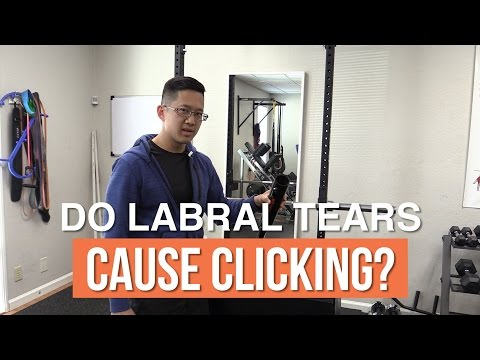 Do labrum tears cause clicking in the hips and shoulders?