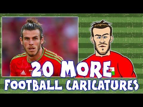 Top 20 Football Caricatures - Part 2! (Football Cartoons)
