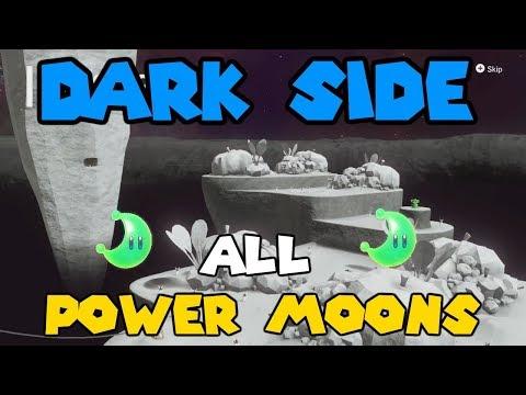 Super Mario Odyssey - Dark Side All Power Moons