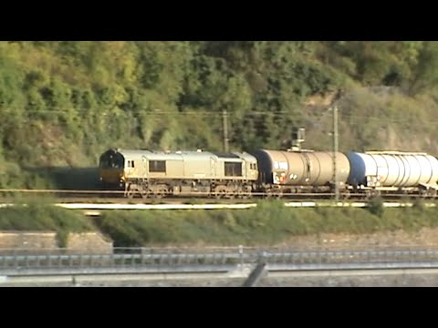 Nordportale Loreley Tunnel, CB Rail Class 66, 152, 101, 185, 427, 2x 428