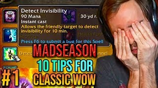 Asmongold Reacts To 10 Tips & Tricks For Classic WoW (Episode 1) - MadSeasonShow