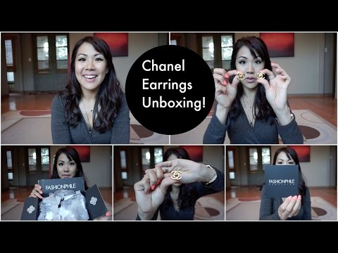 Chanel earrings unboxing/ first Fashionphile experience :(