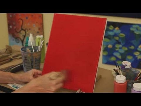 How to Paint a Simple Background | Acrylic Painting - YouTube