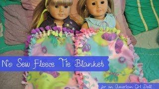 No Sew Fleece Tie Blanket | Diy Blanket For American Girl Doll
