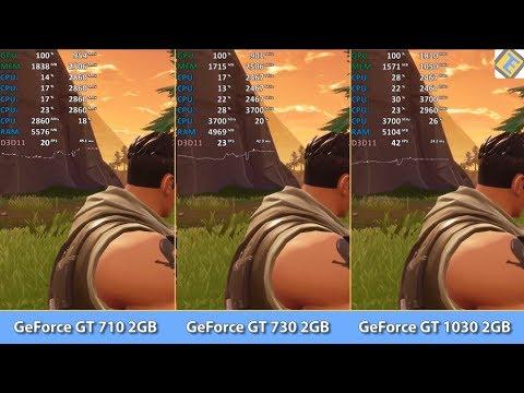 GeForce GT 710 vs. GT 730 vs. GT 1030 DDR4 - Fortnite: Battle Royale  - Benchmark Test