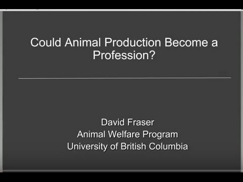 2015-11-09 Dr. David Fraser - Securing animal welfare and building public trust