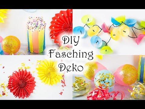 Diy Fasching Party Deko Basteln Ganz Schnell Und Einfach Youtube