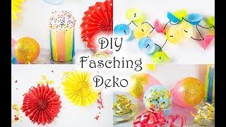 DIY Fasching Party Deko basteln - ganz schnell und einfach