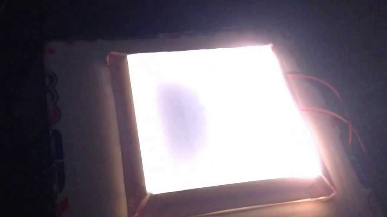 Foam core LED diffuser test