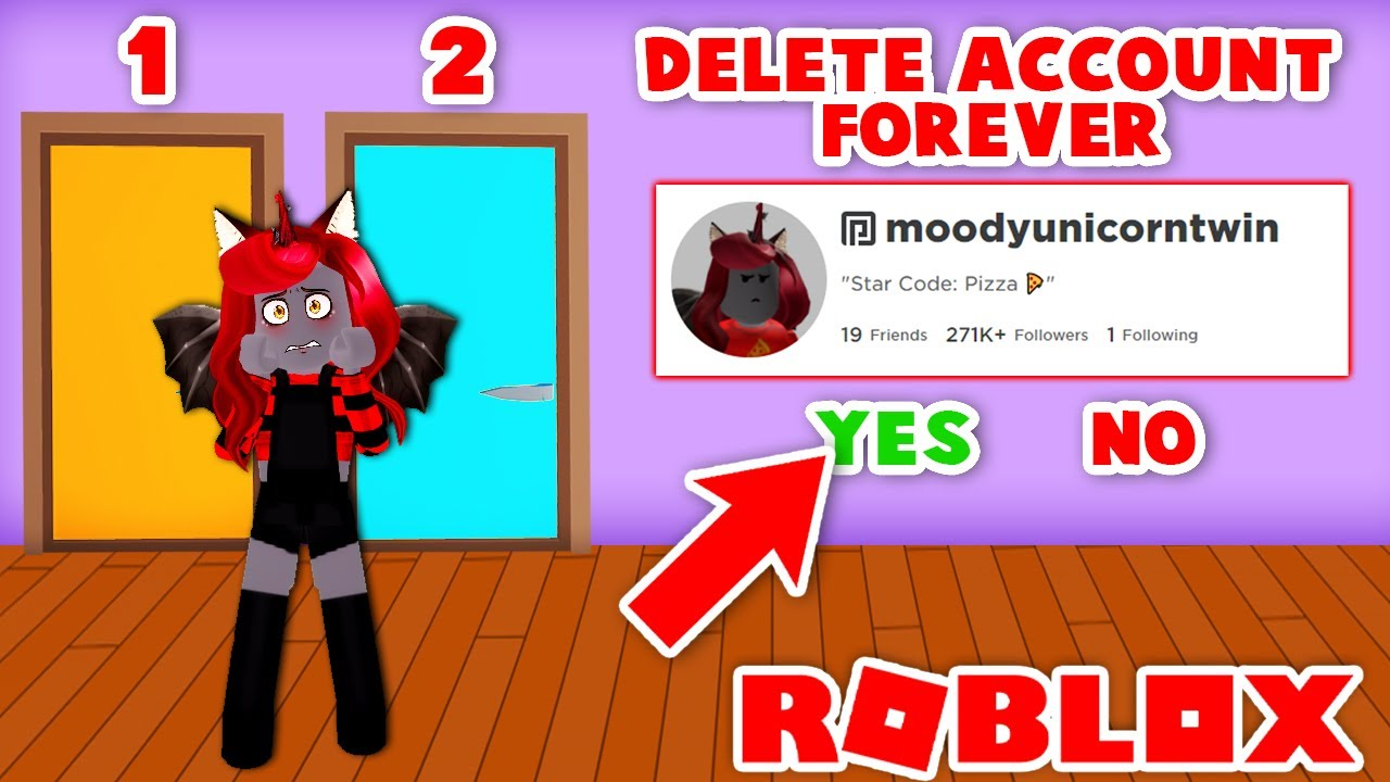 Pick The Right Door Or Lose Your Roblox Account FOREVER! (Roblox)