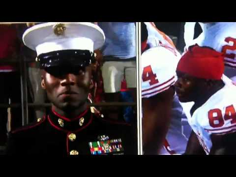 Marine vs football player