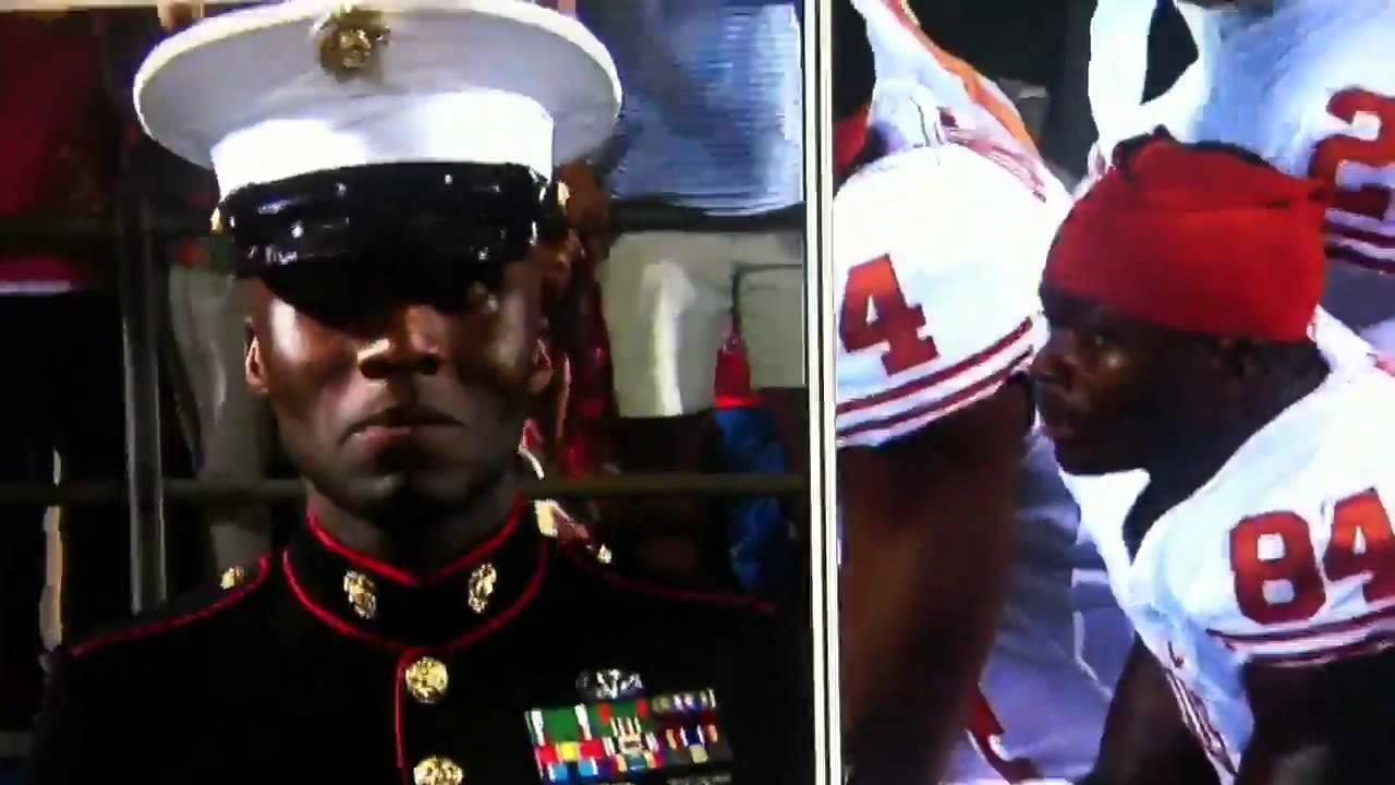 Marine vs football player - YouTube