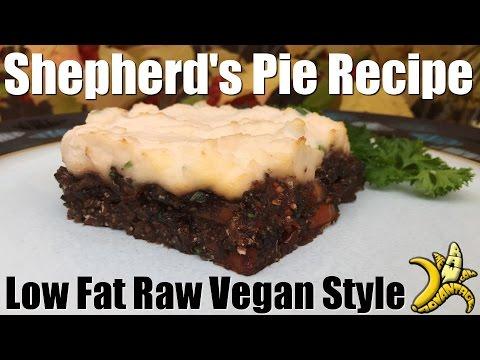 Shepherd's Pie Recipe | Low Fat Raw Vegan Style