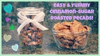 How To Make Cinnamon-sugar Roasted Pecans!
