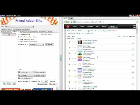 how to gather mass friend ids on bebo com social network for mass