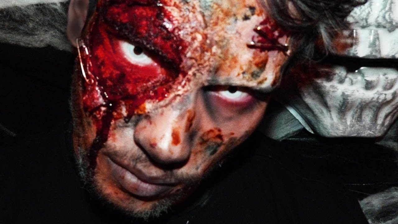 Maquillage halloween zombie sur kevin miranda youtube - Image maquillage halloween ...