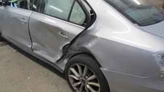 VW Jetta.  The quarter panel replacement . Замена заднего крыла.