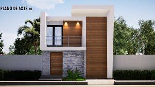 PLANOS DE CASAS MODERNAS 6X18M Fachadas de casas modernas 2020 arquitectura 🏡 casas modernas 2020 YouTube