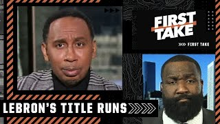 Stephen A. And Kendrick Perkins Get Heated Debating Lebron's Title Runs | First Take