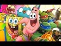SpongeBob SquarePants - Teenage Mutant Ninja Turtles - Block Party 2 - Funny Cartoon Games TMNT HD