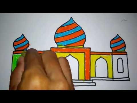 Cara Menggambar Masjid Part 2 Youtube