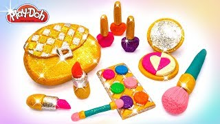 Play Doh Makeup Set How to Make Eyeshadow Lipstick 💄  Nail Polish 👛 with Play Doh Fun for Kids