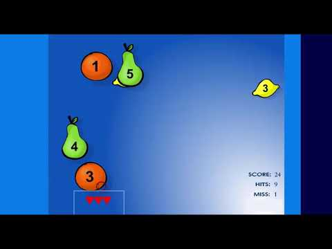 Fruit Splat Counting Game - 1 To 5 - Early Math Game