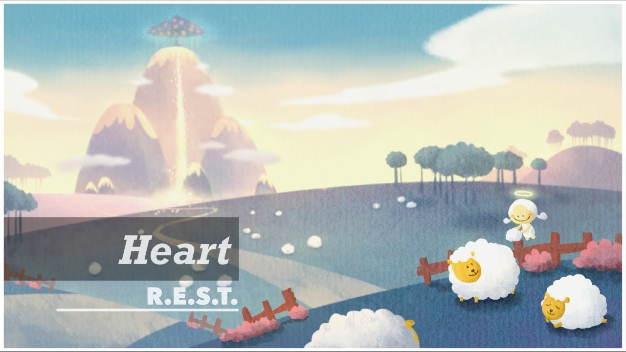 Heart | REST project | Relax, Piano, Meditation, Music, ASMR, Peace, Angel, Illustration