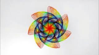 Easy Spirograph Tutorial - Rainbow 2 ( design n6 )