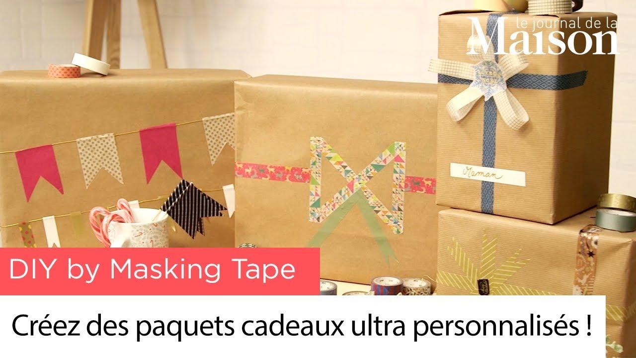 Decoration De Paquets Cadeaux noëlmasking tape : créez des paquets cadeaux ultra personnalisés !