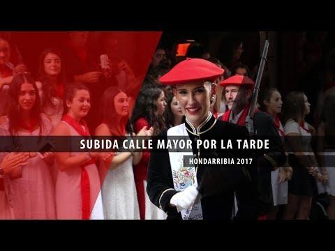 Subida Calle Mayor por la tarde Hondarribia 2017   Txingudi Online