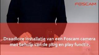 Foscam  - Camera installeren via Wifi