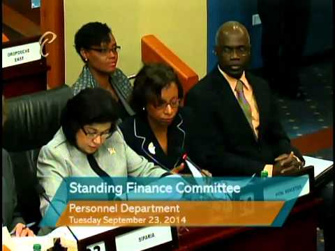 Standing Finance Committee - Personnel Dept., Service Commissions, Statutory Authorities Serv. Comm.