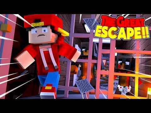 Minecraft THE GREAT ESCAPE - ESCAPING FROM THE INSANE ASYLUM !!!