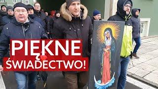 WOW! Setki mężczyzn na Męskim Różańcu ulicami Szczecina!