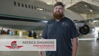 Aviation Maintenance Testimony | Patrick Dinsmore | Spartan College