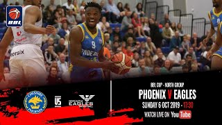 2019 20 BBL Cup North Group Cheshire Phoenix V Newcastle Eagles 6 Oct 2019