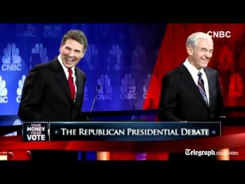 """US Republican debate: """"Oops"""" - watch Rick Perry"""
