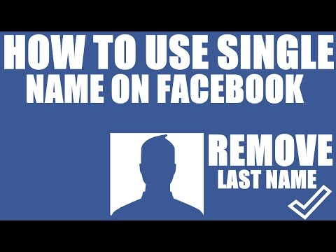How To Make Single Name on Facebook | New Tricks 2017 from YouTube · Duration:  2 minutes 6 seconds