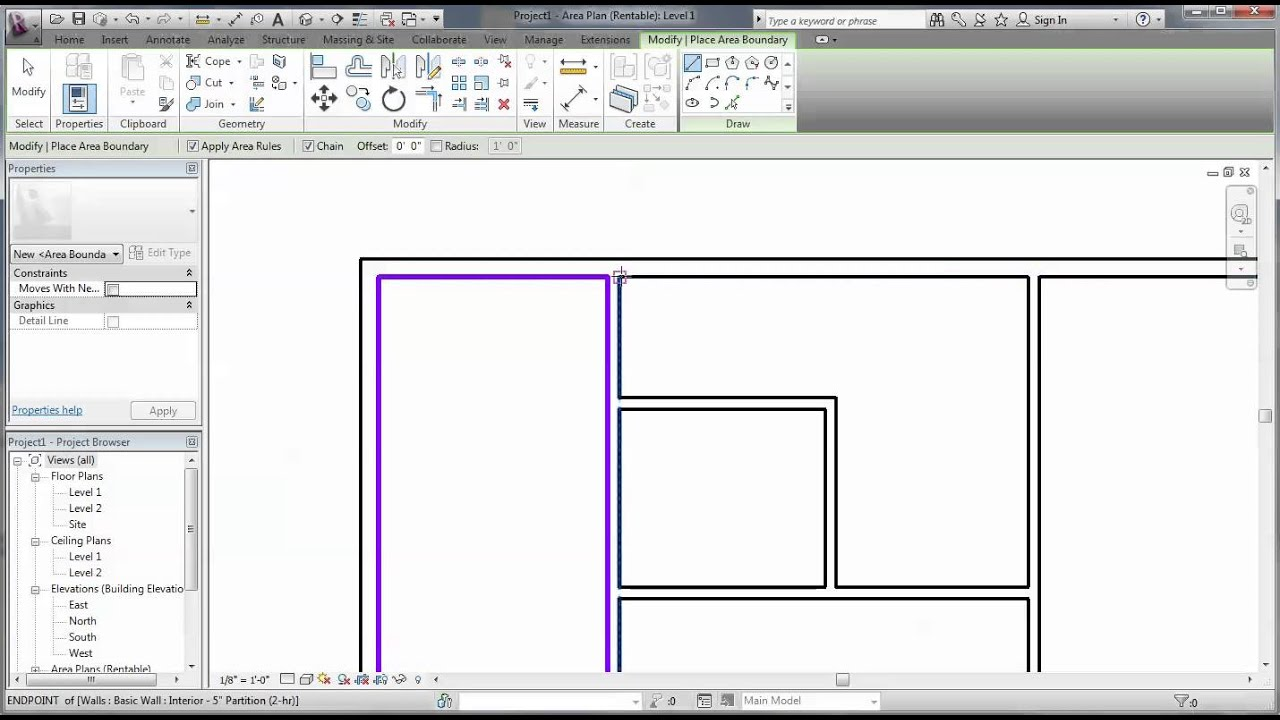 Finding Area In Revit Youtube