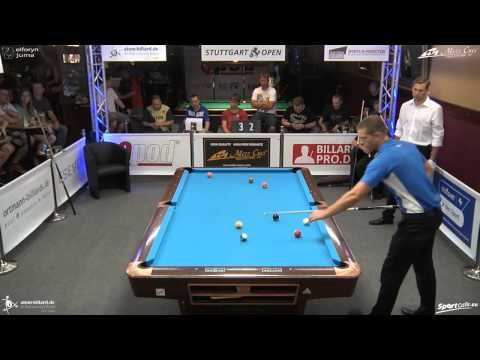 Stuttgart Open 2014, No. 18 1/8 Final Nico Ottermann vs. Joshua Filler, 10-Ball, Pool-Billard