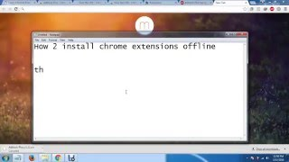 How to install chrome extensions offline