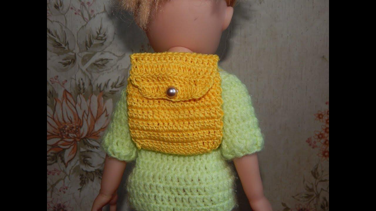 Как связать спицами рюкзак для кукол своими руками купить рюкзак для детей бэби бьерн