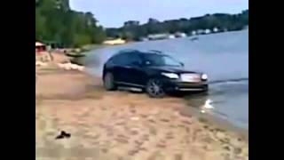 Drunk Russian Managed to Sink with His Jeep