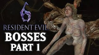 Resident Evil 6 [PS3] - All Bosses Compilation 1/2