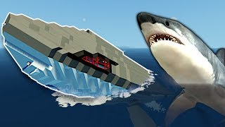 Megalodon Survival in a Whale Submarine! - Stormworks Multiplayer Gameplay