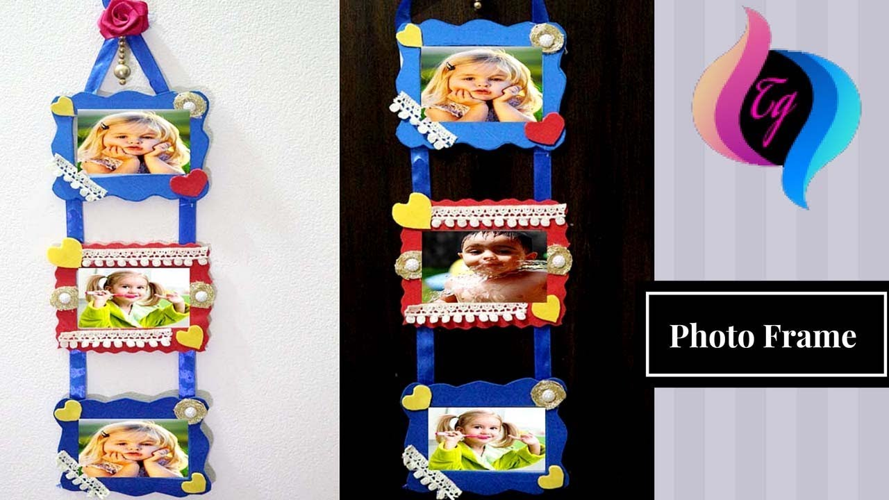 How to make photo frames at home with paper photo frame making how to make photo frames at home with paper photo frame making at home picture hanging ideas jeuxipadfo Image collections